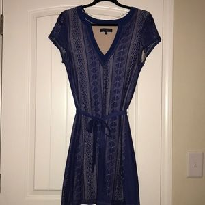 Sanctuary Blue Lace Mid Dress